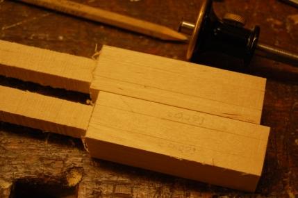 Merker for åttekanten, merker stokkbredden x 0,293 fra kanten.
